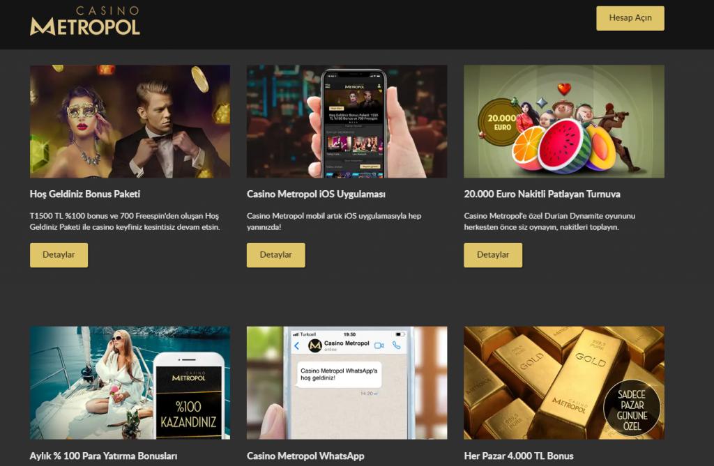 Casino Metropol Bonusları